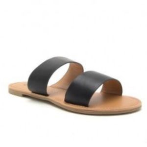 Qupid Double Strap Sandal, size 7
